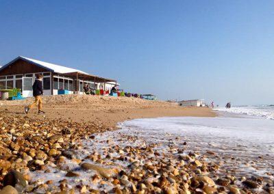 strandtent aan de atlantische kust in Frankrijk Vendee