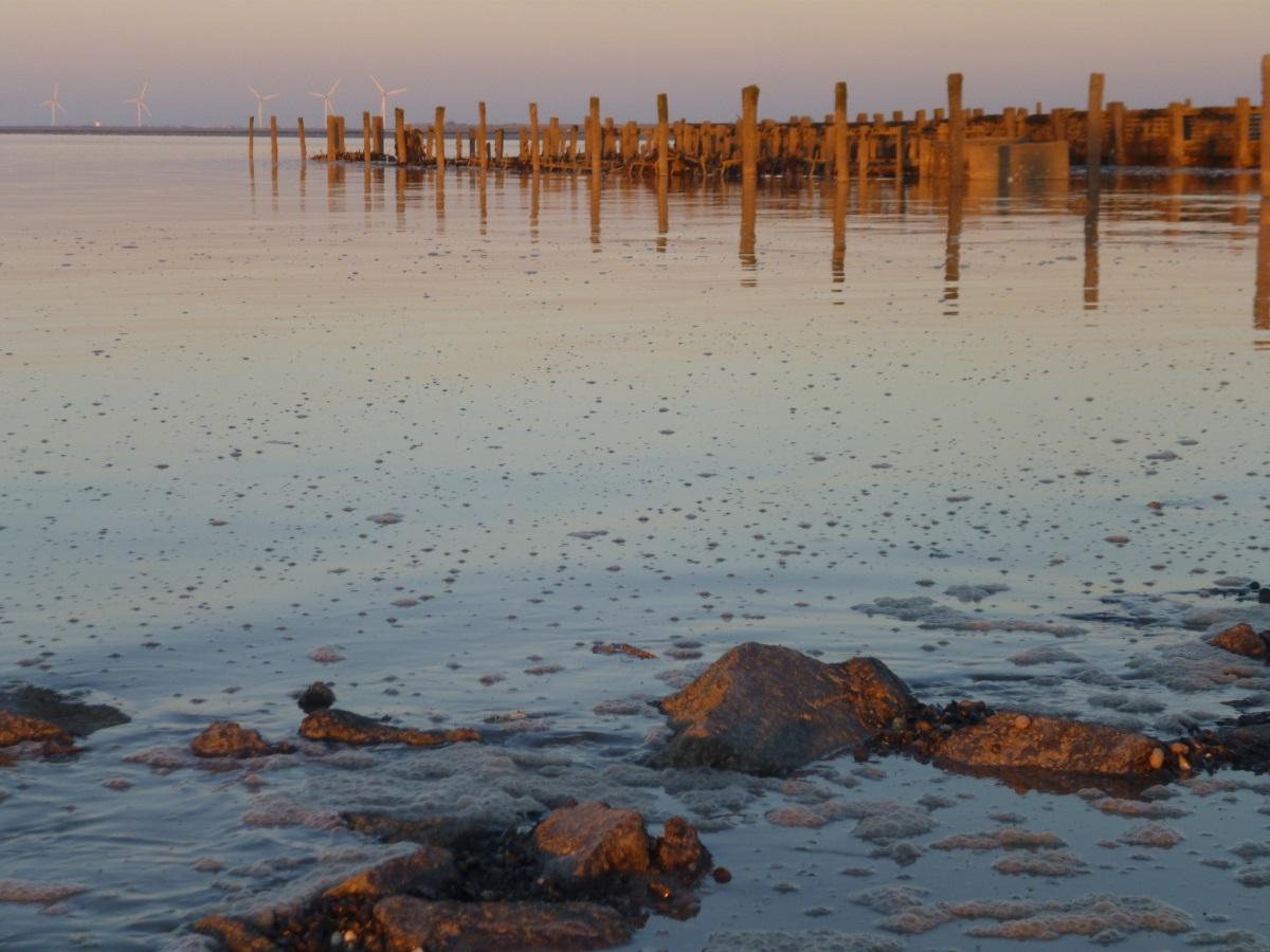 stille oceaan in aan de franse kust