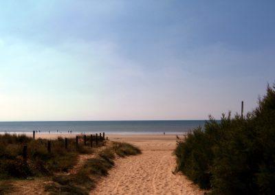 rustig strand aan de atlantische kust in Frankrijk