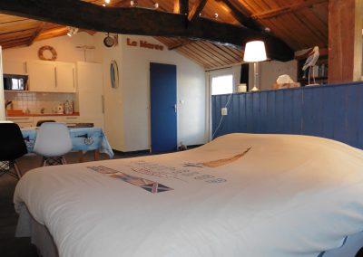 ruime studio voor 2 personen in Frankrijk aan de kust
