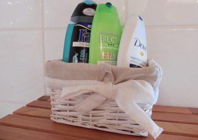 shampoo en doucheschuim op de kamer in frankrijk