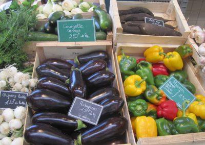 verse groente op de markt