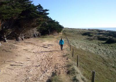 wandelen langs de franse kust