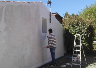 de muur wordt wit