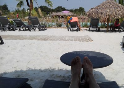 rustig strandje bij het waterpark