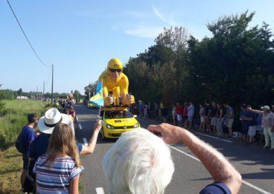 De caravan bij de Tour de France