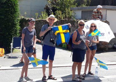 De zweedse delegatie bij de Tour de France