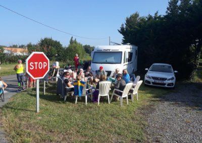 Met de gasten bij de Tour de France