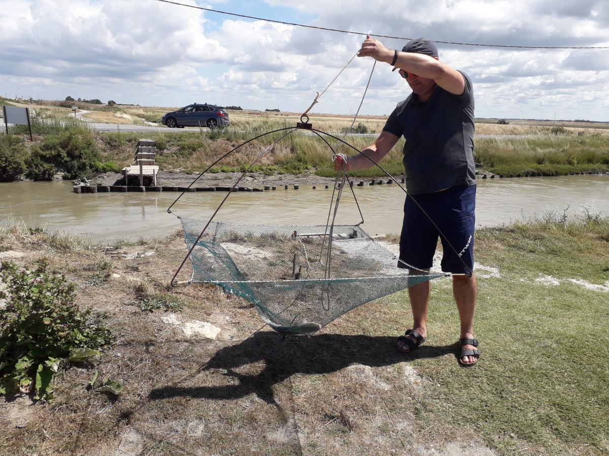 We vangen een grote vis in Frankrijk