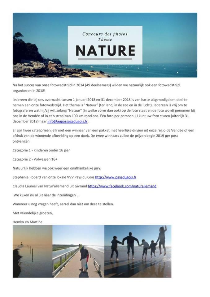 fotowedstrijd 2018 in Frankrijk