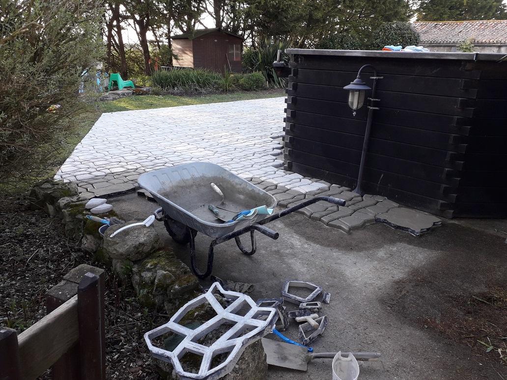 Nieuw terras bij Zwembad