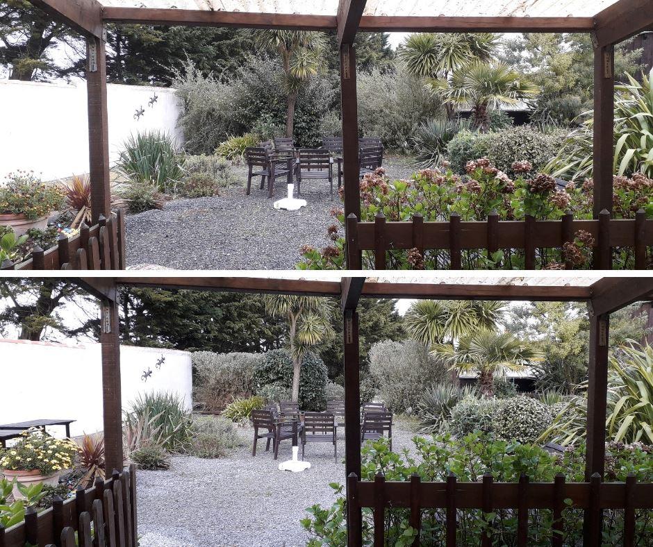 de tuin wordt opgepakt bij Au Passage du Gois