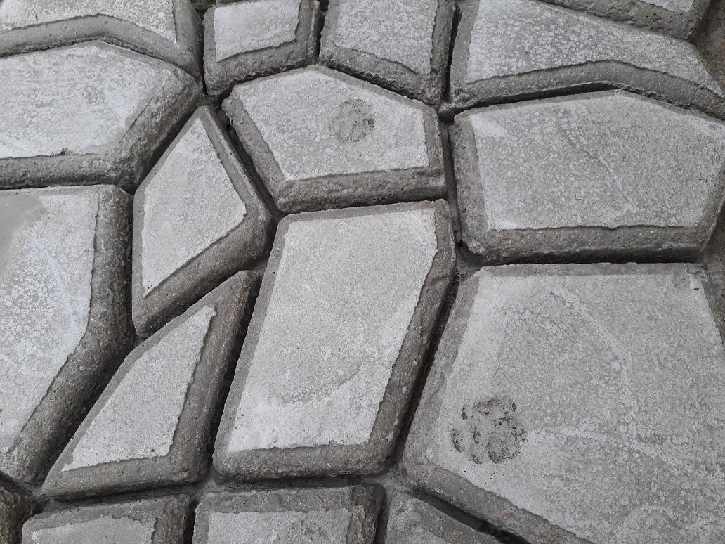 kattensporen in het beton