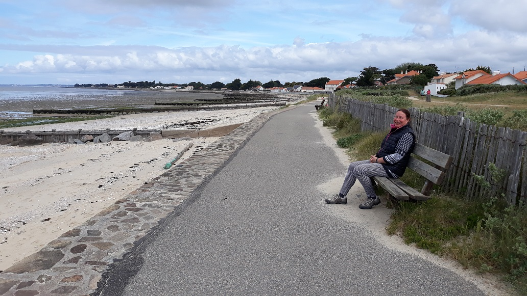 wandelen langs de kust in Frankrijk