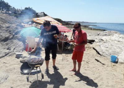 BBQ op het strand in Frankrijk