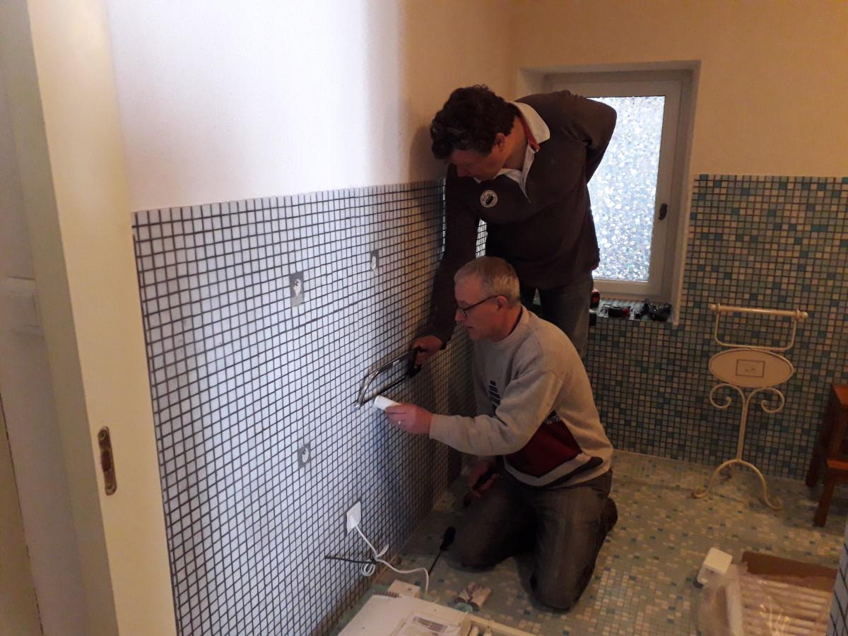 nieuwe badkamer verwarming in Frankrijk