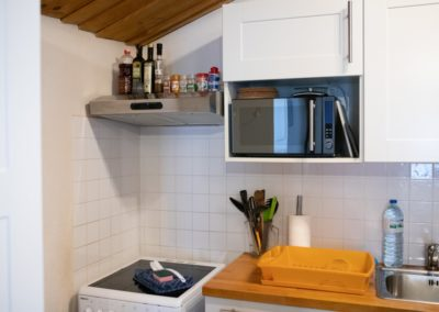 fully equiped kitchen in apartment in the vendee