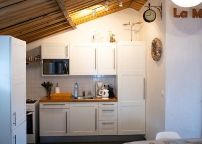 kitchen with fridge in france