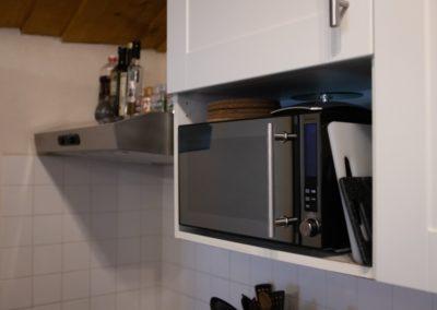 microwave in B&B room in france