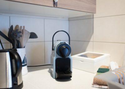 nespresso machine op kamer in frankrijk