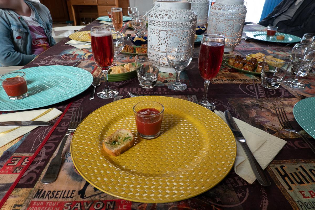 Mooie tafel in Frankrijk