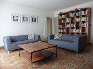ruime huiskamer vakantiehuis in Frankrijk