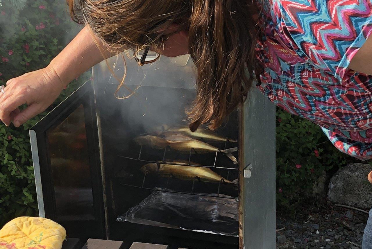 gerookte makrelen in Frankrijk