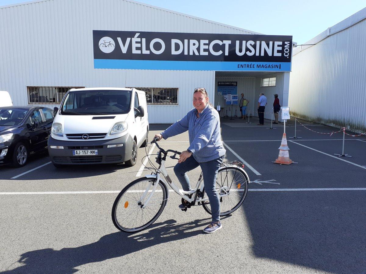 nieuwe fiets voor martine