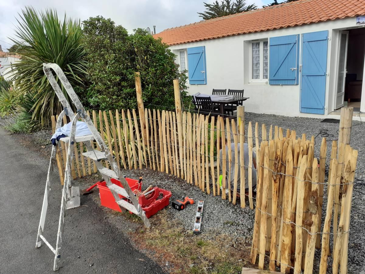 nieuwe hekkken vakantiehuis Frankrijk
